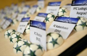 MONACO, MONACO - AUGUST 25: The draw balls and cards ahead of the UEFA Champions League draw part of the ECF Season Kick Off 2016/17 on August 25, 2016 in Monaco, Monaco. (Photo by Paul Murphy - UEFA/UEFA via Getty Images)