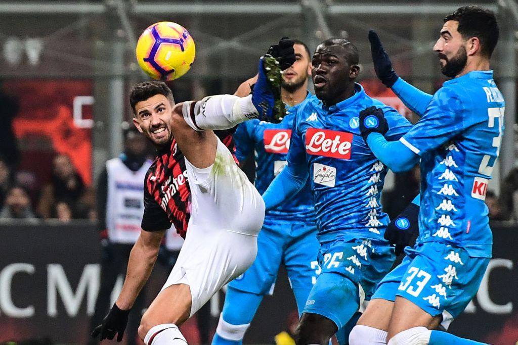 NO SE HICIERON DAÑO  Napoli igualó con Milán y quedó más lejos de Juventus 03d582f18891e