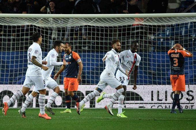 PSG remontó al Montpellier de la mano de Neymar y Mbappé